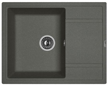 Кухонная мойка ЛИПСИ 650: Чёрный
