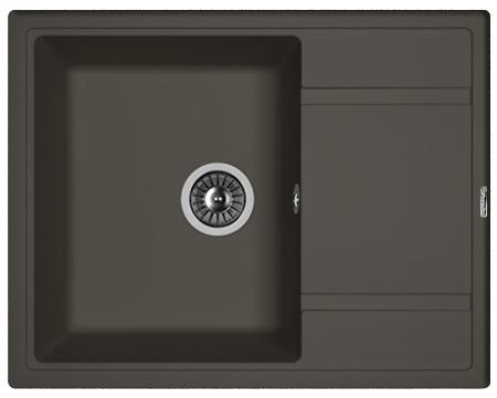 Кухонная мойка ЛИПСИ 650: Антрацит