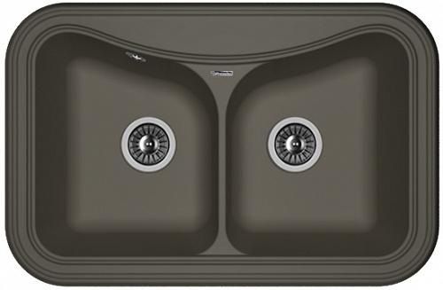Кухонная мойка КРИТ 780А: Антрацит