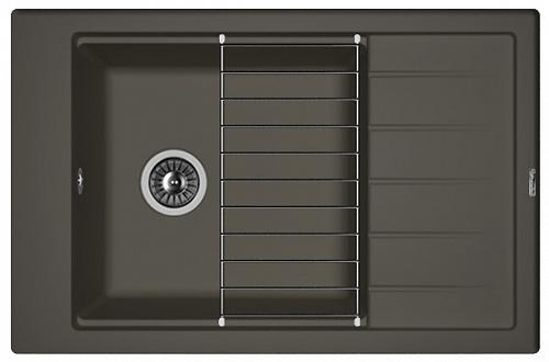 Кухонная мойка ЛИПСИ 780Р: Антрацит