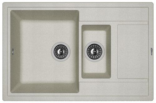 Кухонная мойка ЛИПСИ 780К: Грей