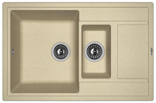 Кухонная мойка ЛИПСИ 780К: Бежевый