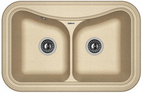 Кухонная мойка КРИТ 780А: Бежевый