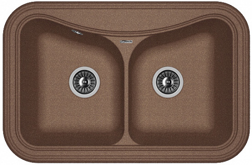 Кухонная мойка КРИТ 780А: Мокко