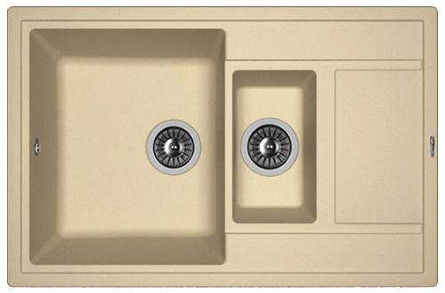 Кухонная мойка ЛИПСИ 780К: Капучино
