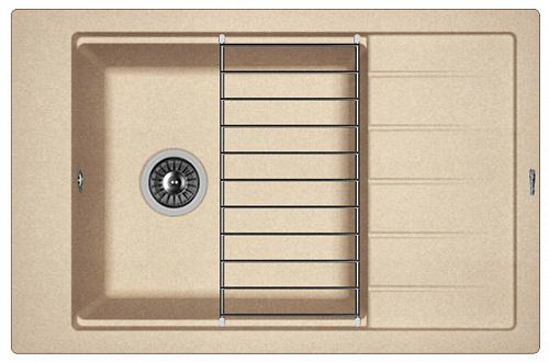 Кухонная мойка ЛИПСИ 780Р: Песочный