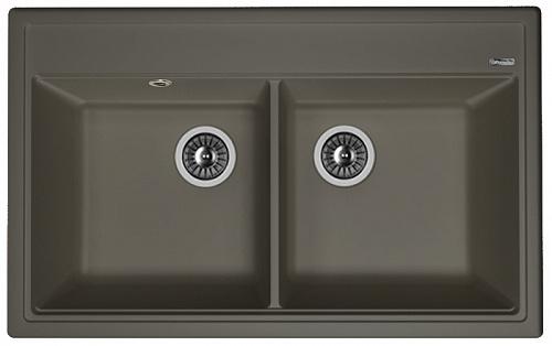 Кухонная мойка ЛИПСИ 820: Антрацит