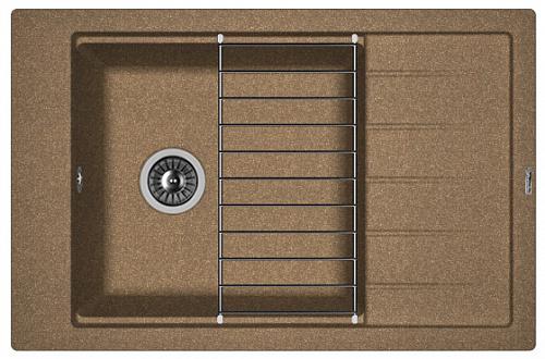 Кухонная мойка ЛИПСИ 780Р: Коричневый