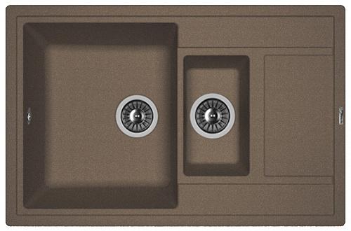Кухонная мойка ЛИПСИ 780К: Мокко