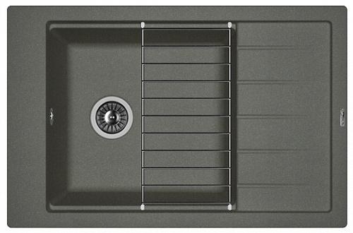 Кухонная мойка ЛИПСИ 780Р: Чёрный