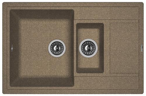 Кухонная мойка ЛИПСИ 780К: Коричневый
