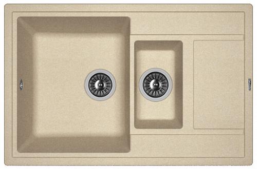 Кухонная мойка ЛИПСИ 780К: Песочный