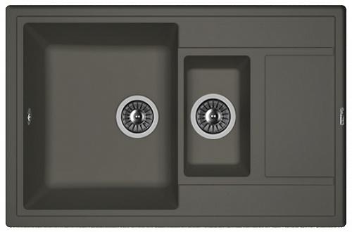 Кухонная мойка ЛИПСИ 780К: Антрацит
