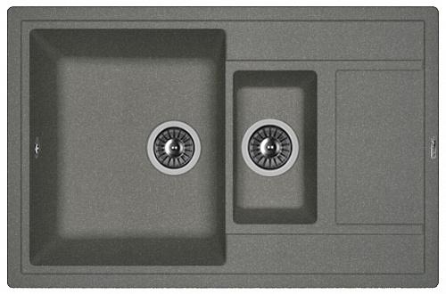 Кухонная мойка ЛИПСИ 780К: Чёрный